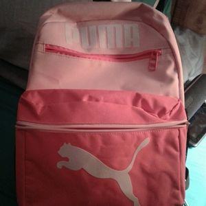 Pink puma bookbag